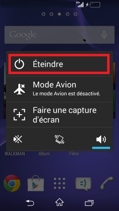 Sony 4.4 eteindre