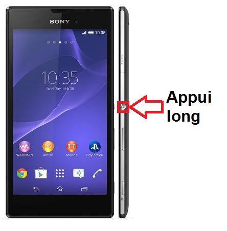 Sony Xperia T3 allumage
