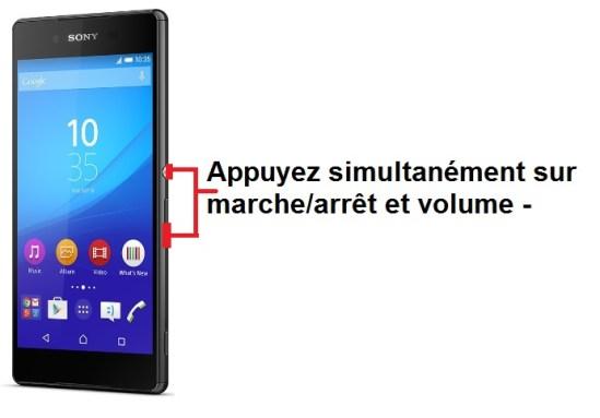 Sony Xperia Z3 + screenshot