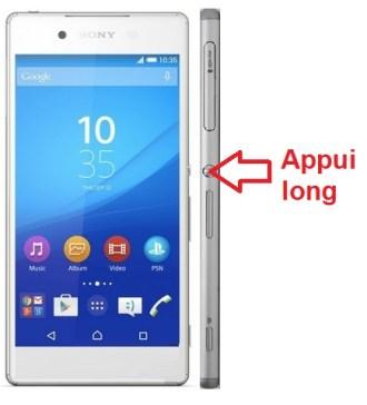 Sony Xperia Z3 allumage