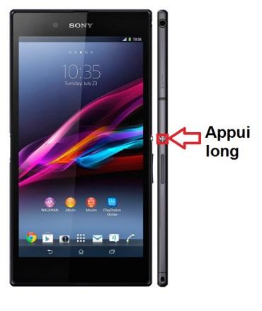 Sony Xperia Z Ultra allumage