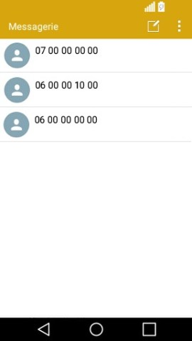SMS LG android 5 . 1-message liste