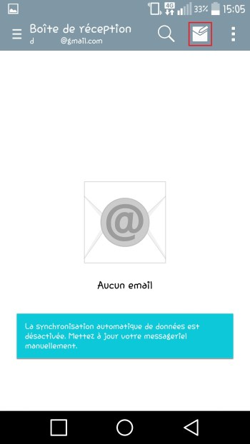 Lg android 5.x nouveau email