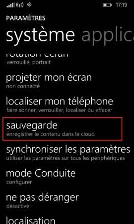 Sauvegarder restaurer mettre à jour son Lumia windows 8.1 sauvegarde