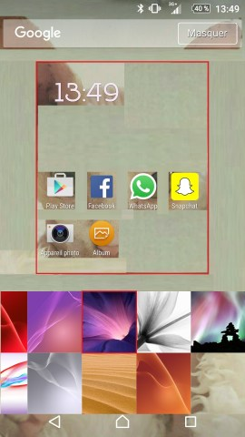 Personnaliser thème sonnerie et fond d'écran (Sony android 6.0) fond ecran 2