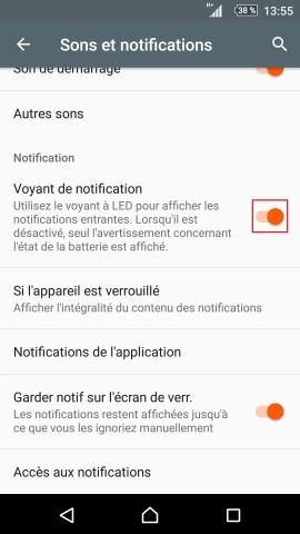 Personnaliser sony thème sonnerie fond d'écran android 5.1 réglages son et notification voyant