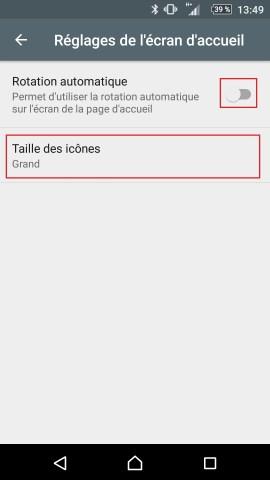 Personnaliser thème sonnerie et fond d'écran (Sony android 6.0) reglages accueil 2