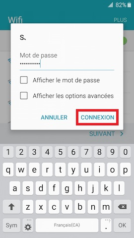 Activation Samsung mise en route WIFI mot de passe