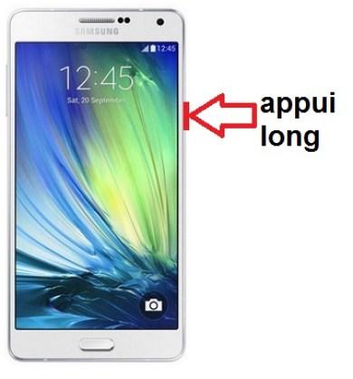 Samsung Galaxy A7 allumage