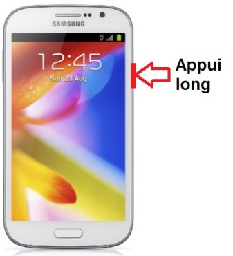 Samsung Galaxy Grand allumage