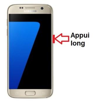 Samsung Galaxy S7 allumage