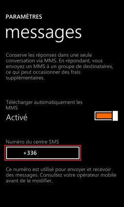 SMS Lumia windows 8.1 message centre SMS