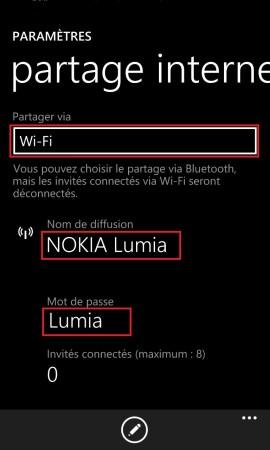 Internet Lumia windows 8.1 partage internet 2