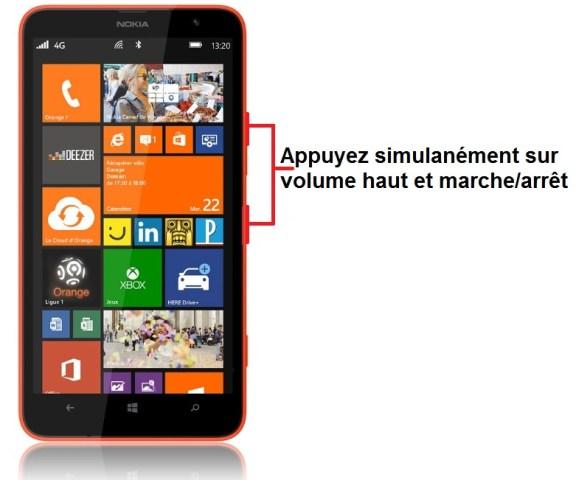 Nokia Lumia 1320 capture écran