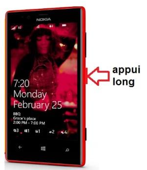 Microsoft Nokia Lumia 720 allumage