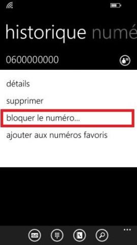 Trucs et astuces Lumia windows 8.1 bloquer le numéro