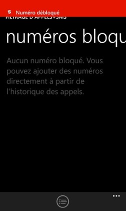 SMS Lumia numero debloquer