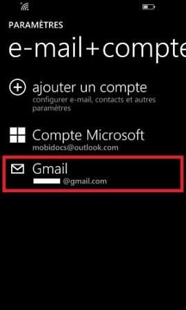 mail Lumia windows 8.1 gmail