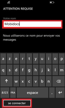 mail Lumia windows 8.1 nom du compte