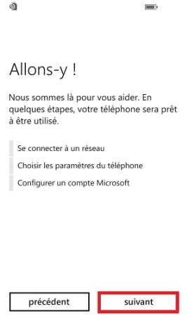 Assistant de configuration Lumia windows 8.1