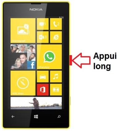 Microsoft Nokia Lumia 520 allumage