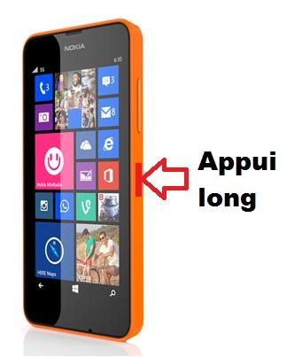 Nokia Lumia 635 allumage