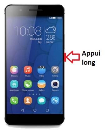 Huawei Honor 6 Plus allumage