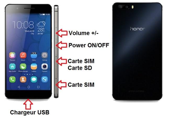 Huawei Honor 6 Plus bouton