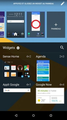 Personnaliser HTC android 6 widget