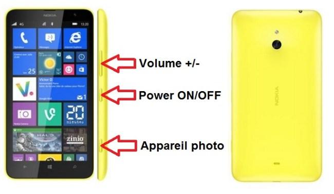 Nokia Lumia 1320 bouton