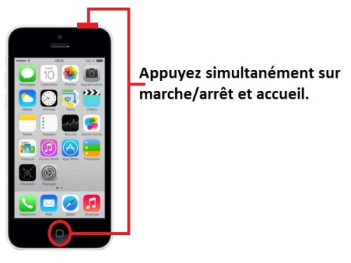 iphone 5C screenshot