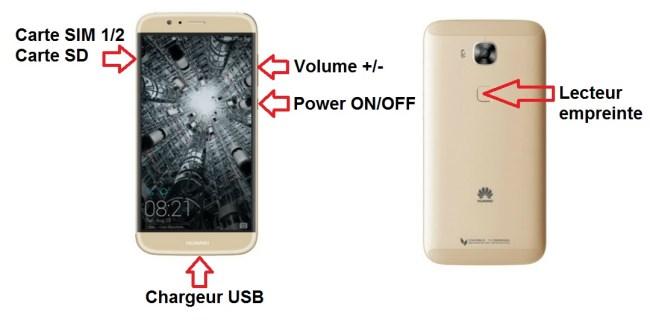 Huawei Ascend G8 bouton