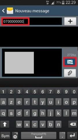 MMS Samsung 4.4 MMS joindre envoyer