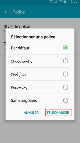 Personnaliser Samsung thème sonnerie fond d'écran style de police 3
