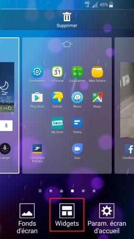 Personnaliser Samsung thème sonnerie fond d'écran widjet