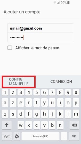 mail Samsung config manuel
