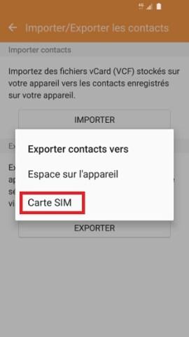 contact code pin ecran verrouillage Samsung (android 6.0) Carte SIM