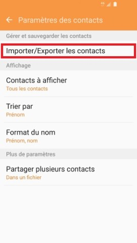 contact code pin ecran verrouillage Samsung (android 6.0)