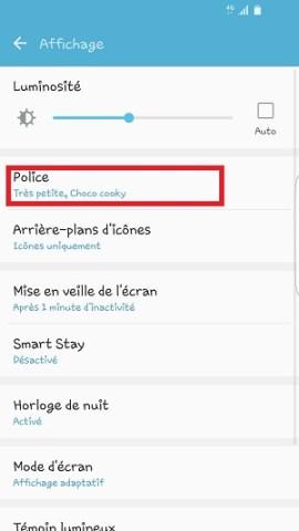 Personnaliser Samsung thème sonnerie fond d'écran police