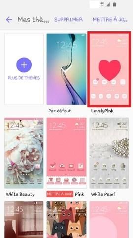 Personnaliser Samsung thème sonnerie fond d'écran themes