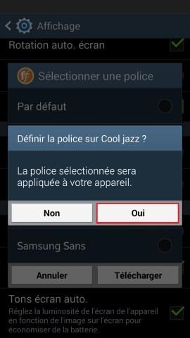 Personnaliser Samsung thème sonnerie fond d'écran police 3