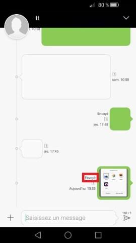 MMS Huawei envoyer