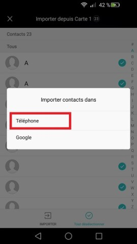contact code pin ecran verrouillage Huawei (android 5.1)