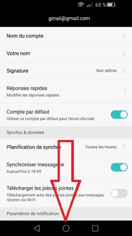 mail Huawei android 5 supprimer compte email