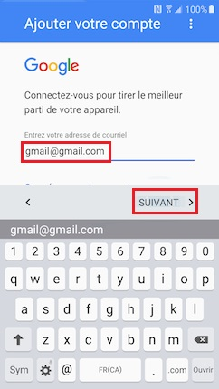 Activation Alcatel google