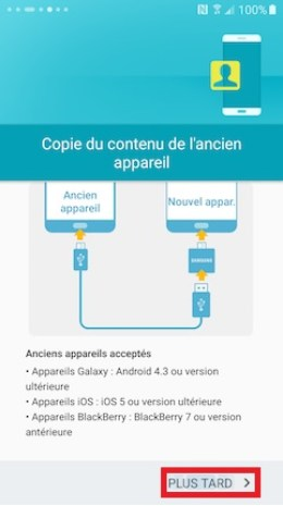 Activation Samsung (android 6.0) transfert 18