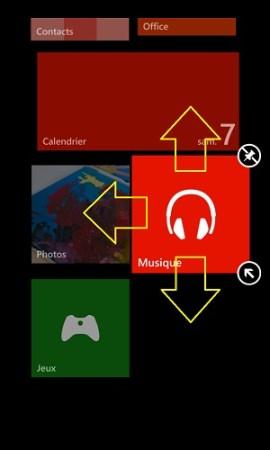 Personnalisation Lumia 8.1 déplacer