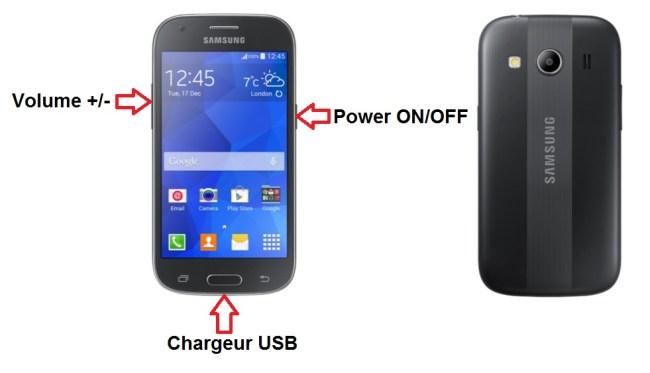 Samsung Galaxy ACE 4 bouton