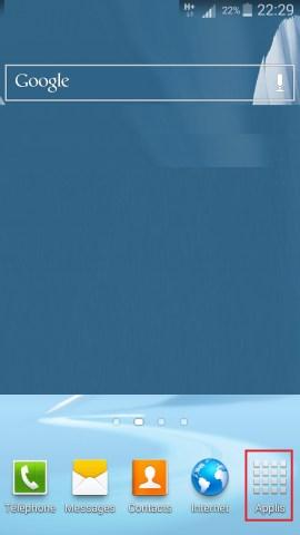 Applications Samsung android 4 applis