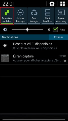 internet Samsung android 4 donnée mobile 2